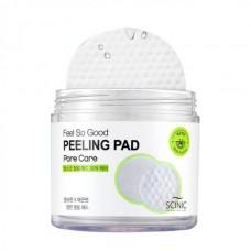 Очищающие пилинг-спонжи с PHA кислотами Scinic Feel So Good Peeling Pad