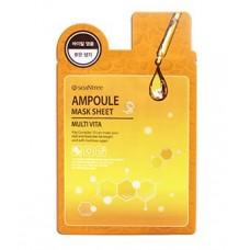 Мультивитаминная тканевая маска SeaNtree Multi Vita Ampoule Mask Sheet