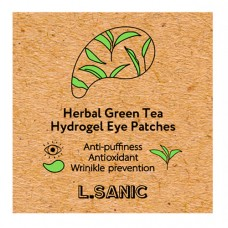 Гидрогелевые патчи с экстрактом зелёного чая L SANIC Herbal Green Tea Hydrogel Eye Patche
