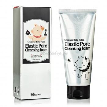 Чёрная маска-пенка для очищения пор Elizavecca Elastic Pore Cleansing Foam