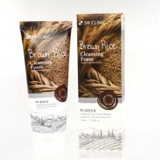 Пенка для умывания с экстрактом коричневого риса 3W Clinic Brown Rice Foam Cleansing