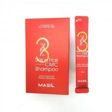 Восстанавливающий профессиональный шампунь с керамидами Masil 3 Salon Hair CMC Shampoo 8 ml