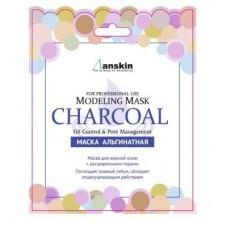 Альгинатная маска для жирной кожи с расширенными порами ANSKIN Modeling Mask Charcoal Oil Control & Pore Management 25г