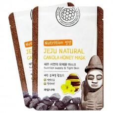 Тканевая маска успокаивающая, для увлажнения, питания и очищения пор WELCOS Jeju Natural Mask - С медом канолы