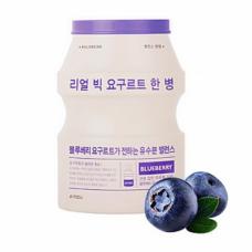 Маска для лица с йогуртом A`PIEU Real Big Yogurt Bottle Mask Sheet - 04. Blueberry – с экстрактом черники