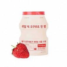 Маска для лица с йогуртом A`PIEU Real Big Yogurt Bottle Mask Sheet - 03. Strawberry – с экстрактом клубники