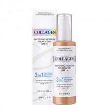 Тональный крем с коллагеном для сияния кожи SPF15 №13 ENOUGH Collagen 3 in 1 Whitening Moisture Foundation SPF15