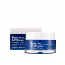 Крем с коллагеном для увлажнения и повышения эластичности кожи FARMSTAY Dr.V8 Solution Collagen Cream