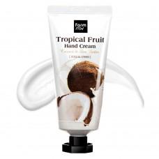 """Крем для рук """"Тропические фрукты"""" с кокосом и маслом ши FarmStay Tropical Fruit Hand Cream Coconut & Shea Butter"""