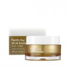 Восстанавливающий крем с муцином улитки FARMSTAY Dr.V8 Solution Snail Cream