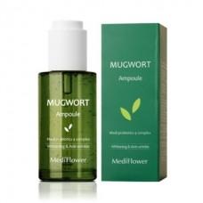 Противовоспалительная сыворотка для лица с экстрактом полыни Mugwort Ampoule Medi Flower