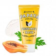 A`Pieu Fresh Mate Papaya Mask Peeling – очищающая маска-пилинг с экстрактом папайи