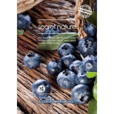 Листовая маска Secret Nature Sheet Mask - черника