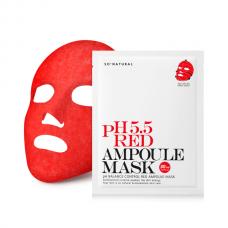 Слабокислотная восстанавливающая маска So Natural 5.5 Red Ampoule Mask