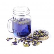Тайский синий чай (голубой чай) из лепестков и листьев растения Анчан (Клитория Тройчатая)