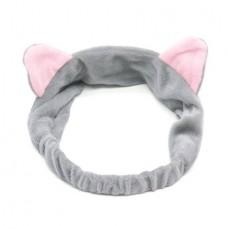 Повязка для волос Кошачьи ушки AYOUME Hair Band Cat Ears - серая