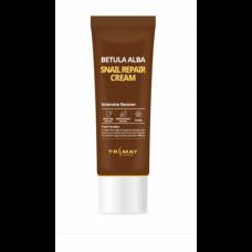 Крем с муцином улитки и березовым соком Betula Alba Snail Repair Cream Trimay