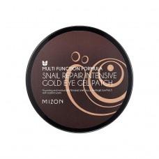 Регенерирующие патчи с муцином улитки и золотом Mizon Snail Repair Intensive Gold Eye Gel Patch
