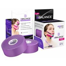 Кинезио тейп BBTape FACE PACK ШЕЛК Silk 2,5см*5м фиолетовый f 2 рулона