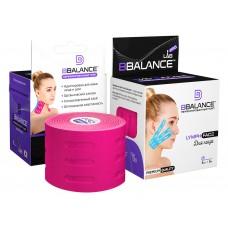 Перфорированный кинезио тейп против отёчности BBTape Lymph Face 5см*5м розовый