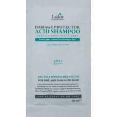 Защитный шампунь для поврежденных волос Lador Damage Protector Acid Shampoo ( пробник 10 мл )