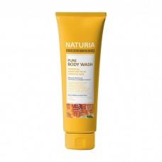 EVAS Naturia Pure Body Wash Honey & White Lily – гель для душа с ароматом романтического букета из лилий, нектарина и сладкого меда