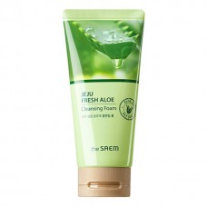 Пенка для умывания с алоэ вера THE SAEM Jeju Fresh Aloe Cleansing Foam