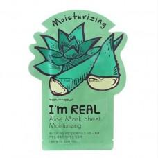 Увлажняющая маска с экстрактом алоэ вера TONY MOLY I'm Real Aloe Mask Sheet Moisturizing