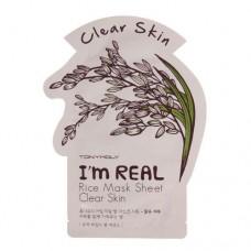 Одноразовая маска для лица с экстрактом риса TONY MOLY I'm Real Rice Mask Sheet Clear Skin