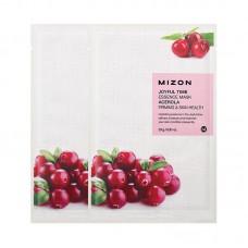 Увлажняющие тканевые маски для лица Mizon Joyful Time Essence Mask - Acerola - Ацерола