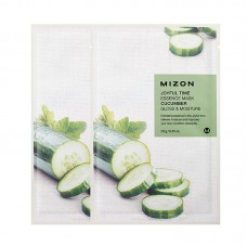 Увлажняющие тканевые маски для лица Mizon Joyful Time Essence Mask - Cucumber - Огурец
