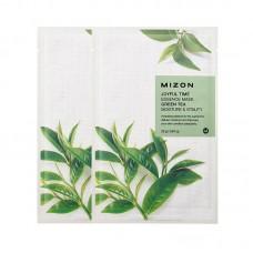 Увлажняющие тканевые маски для лица Mizon Joyful Time Essence Mask - Green Tea - Зеленый чай