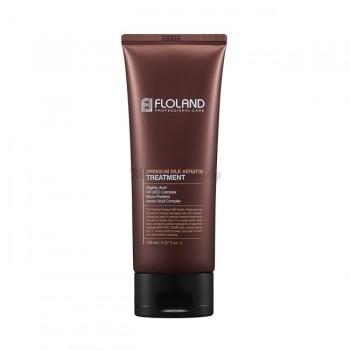 Восстанавливающая маска-бальзам для волос с кератином Floland Premium Silk Keratin Treatment 150 мл