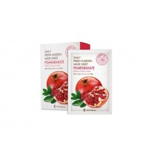 Тканевая маска для лица с экстрактом граната Skin Planet Daily Fresh Garden Mask Sheet Pomegranate, Mijin
