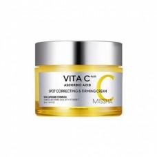 Крем для лица с витамином С MISSHA VITA C PLUS SPOT CORRECTING & FIRMING CREAM